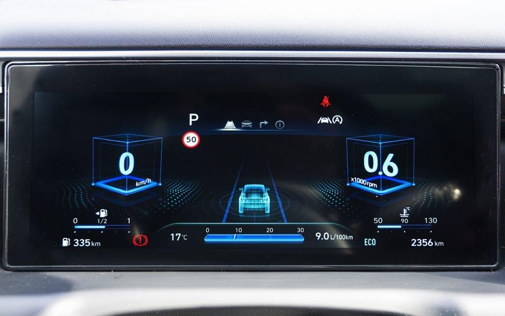 Visualización 'cúbica' del Virtual Cockpit del Hyundai Tucson