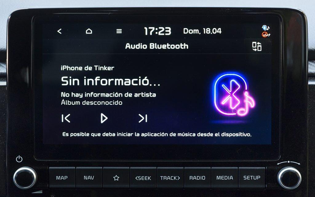 Reproducción de audio en el Kia Rio GT Line