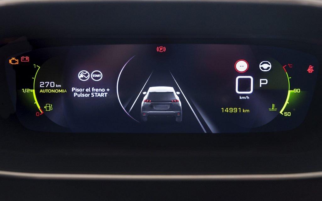 Visualizador ADAS instrumentos del Peugeot 2008 GT
