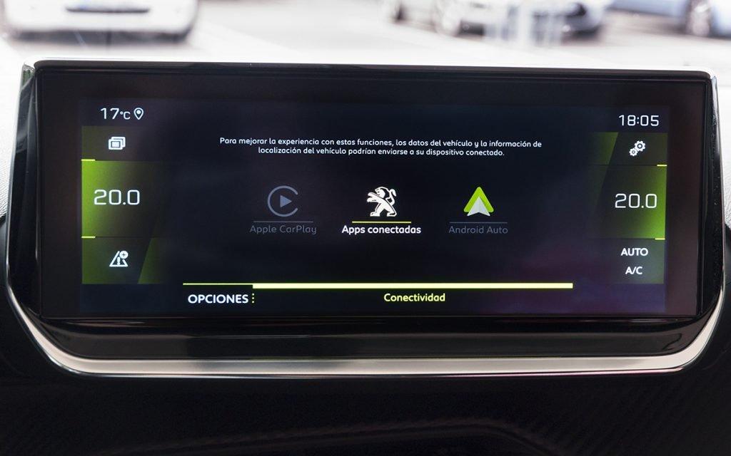 Menú de apps del Peugeot 2008 GT