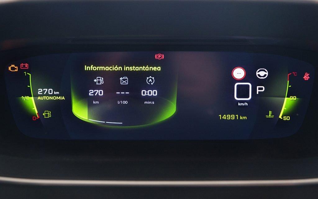 Consumos en el Digital Cockpit del Peugeot 2008 GT