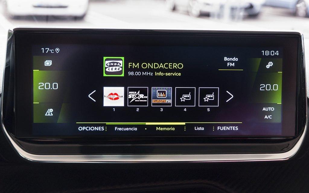 Radio en el Peugeot 2008 GT