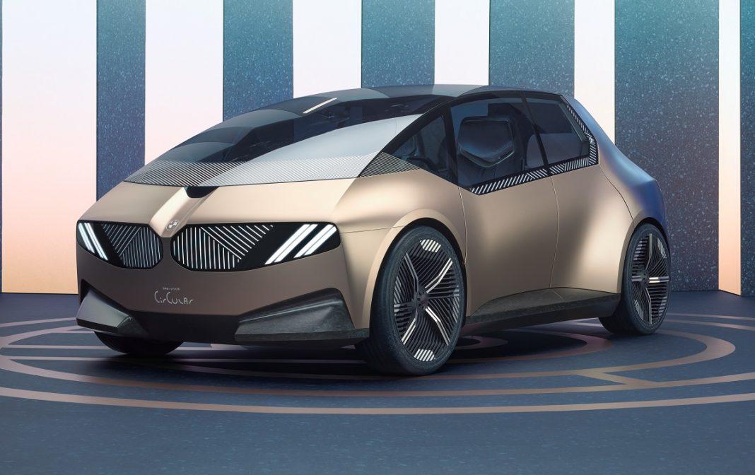Imagen tres cuartos delantero del BMW iVision Circular