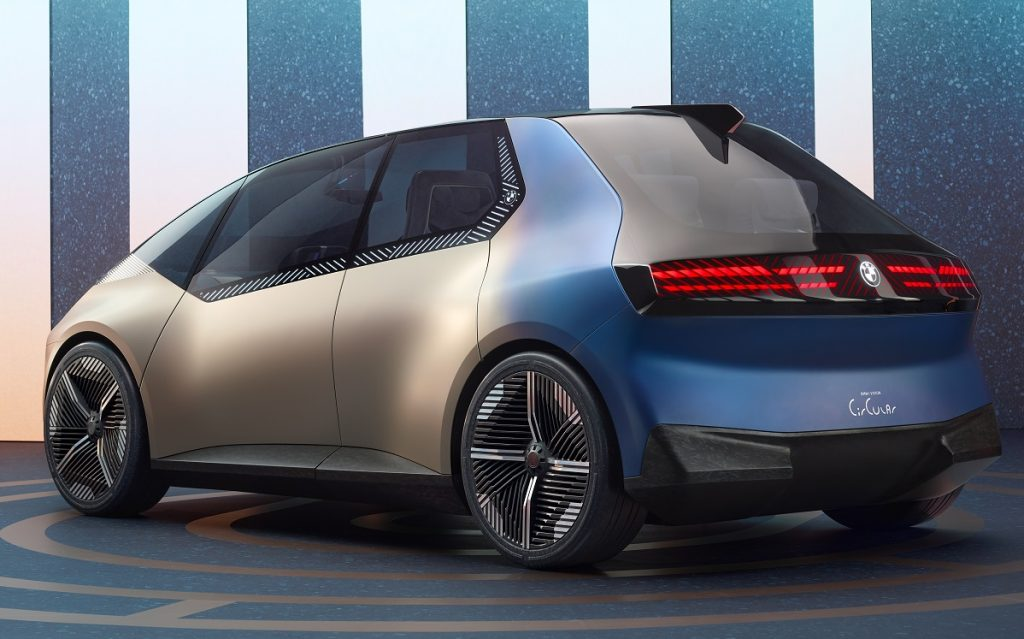 Imagen tres cuartos trasero del BMW iVision Circular