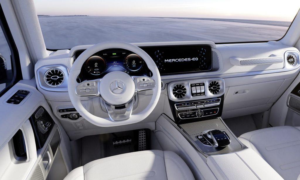 Mercedes EQG interior