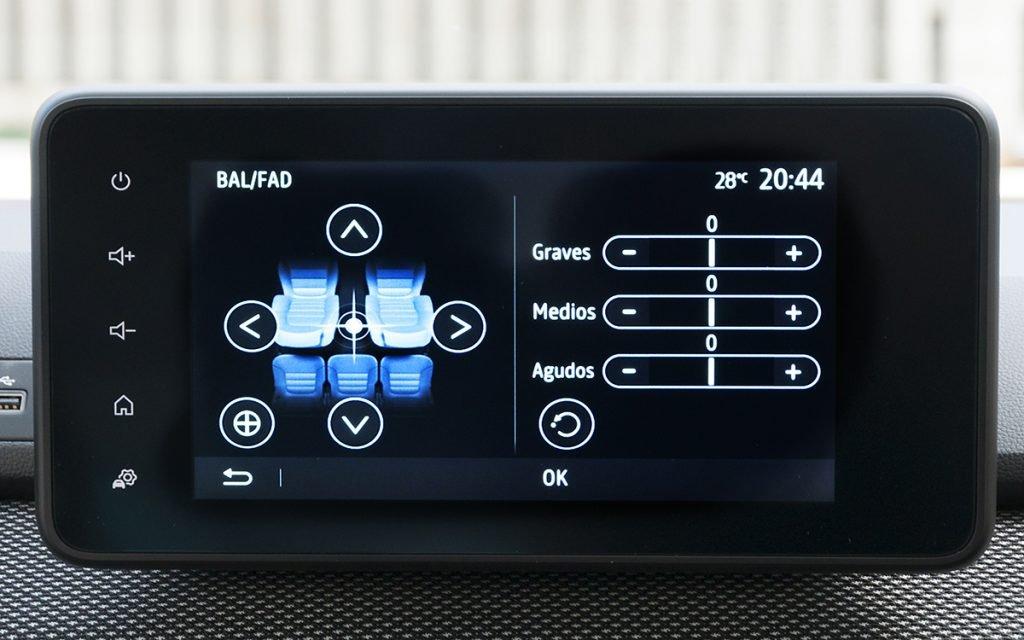Ajustes de audio en el Dacia Sandero Stepway