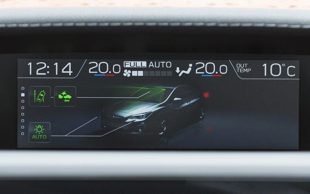 Visualización ADAS del Subaru Impreza Hybrid