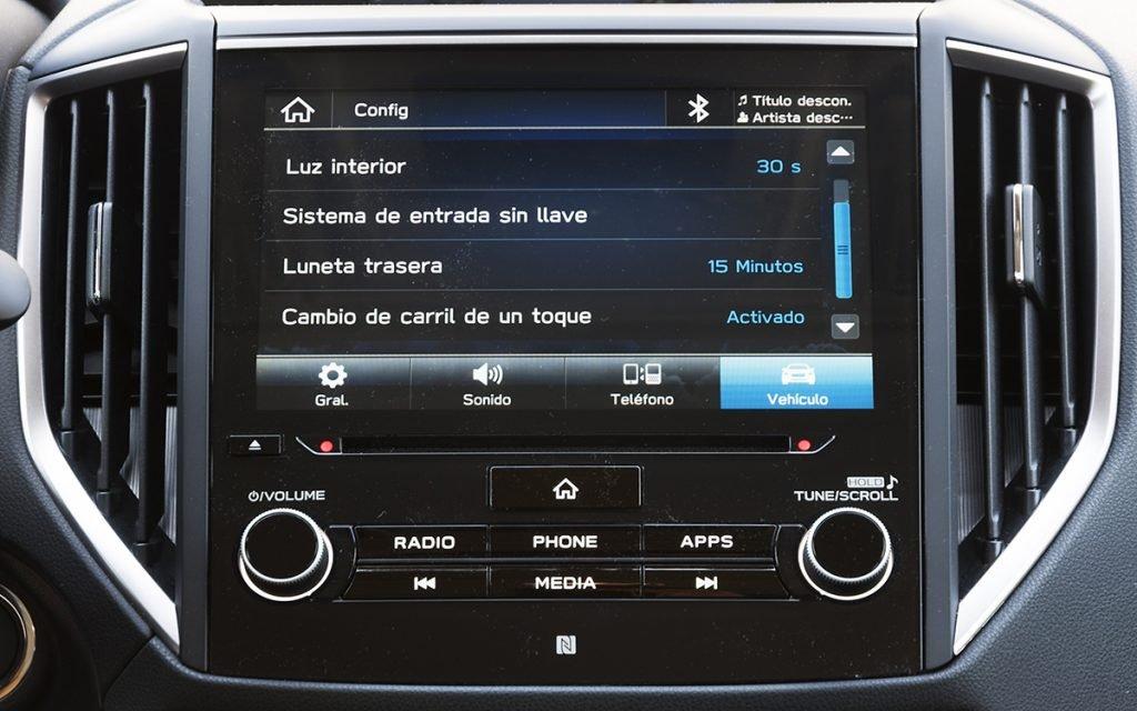 Opciones de ADAS en el Subaru Impreza Hybrid
