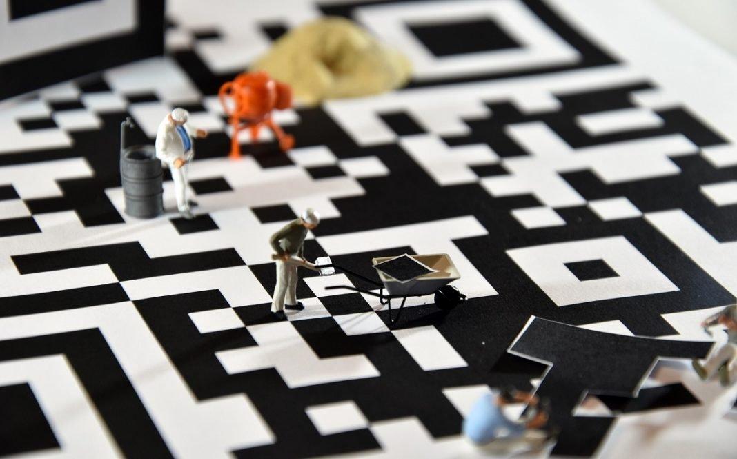 Imagen artística de un código QR
